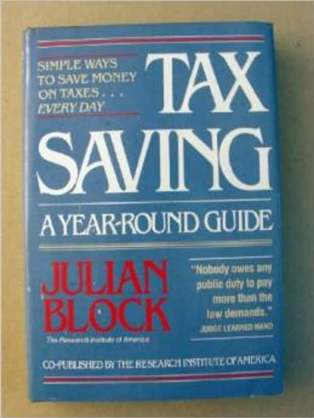 """Julian Block has written a number of tax books including """"Tax Savings: A Year-Round Guide."""""""