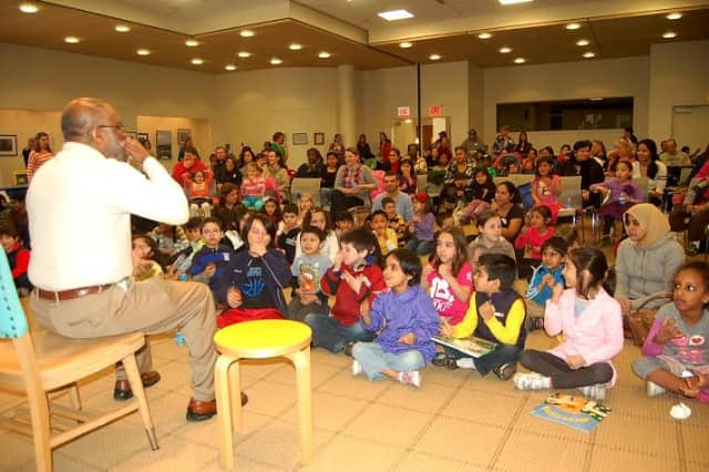 The Ferguson Library in Stamford will host a book giveaway for children and other events Saturday, April 18.