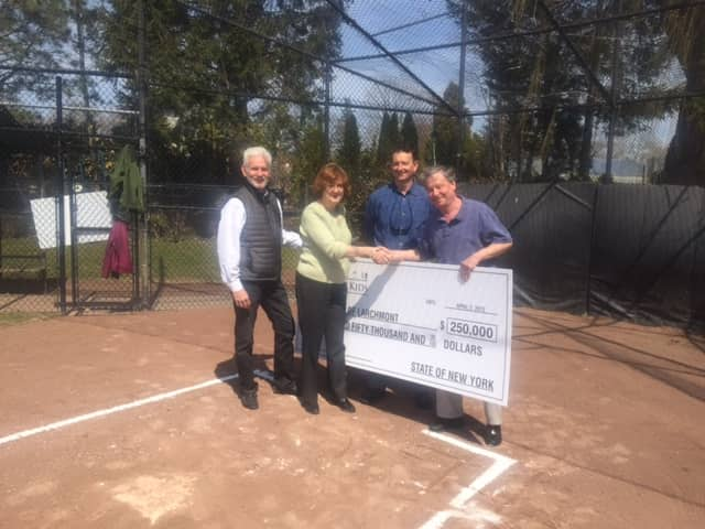 State Assemblyman Steve Otis secured a $250,000 grant for Larchmont to develop more baseball fields at Lorenzen Park.