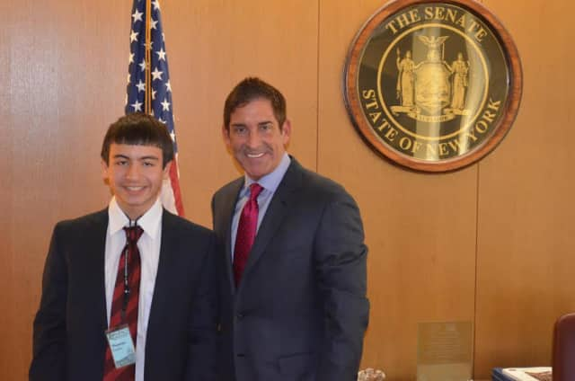 Thomas Curro and Sen. Jeffrey Klein met in Albany on March 25.