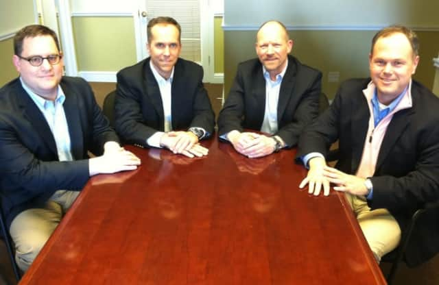 Vision Search Partners is a Wilton-based search firm. Pictured from left are its four partners: Pio Imperati, William Bardini, Richard Champagne and Matthew McMahon.