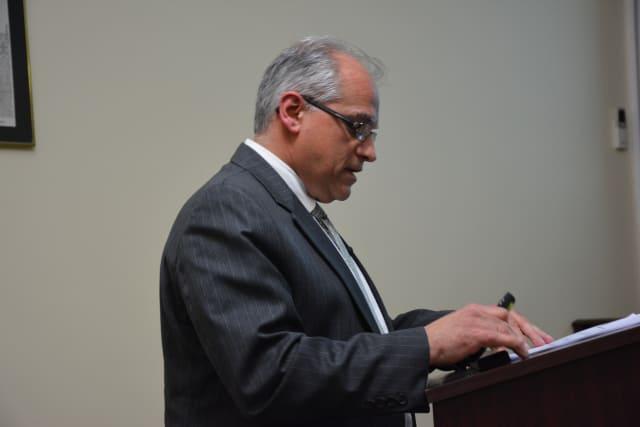 Interim Village Manager Gennaro Faiella presents Mount Kisco's proposed 2015-16 budget.