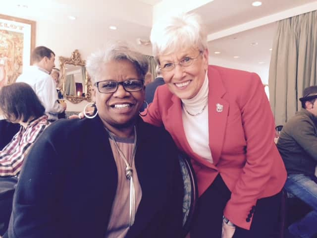 Lt. Gov. Nancy Wyman with state Sen. Marilyn Moore.