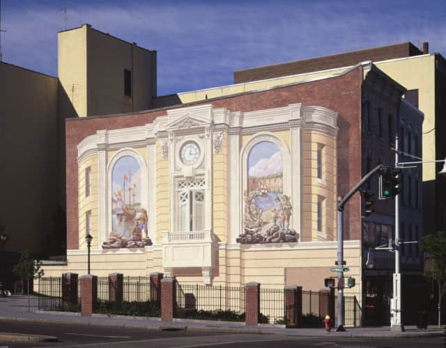 Richard Haas is well known for his mural in Downtown Yonkers.