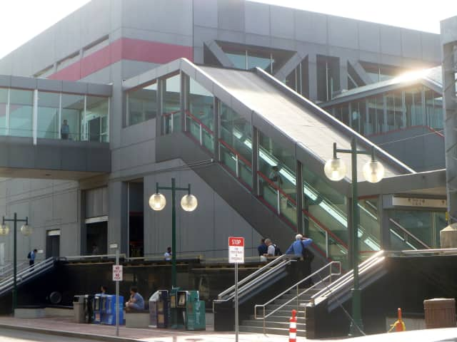The downtown Stamford train station