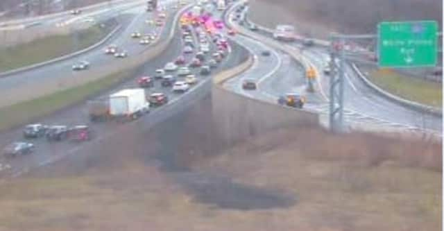 A look at the intersection of I-87 and at I-287 on Tuesday.