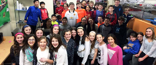 The fifth-grade students at Harrison Avenue Elementary who volunteered their time.