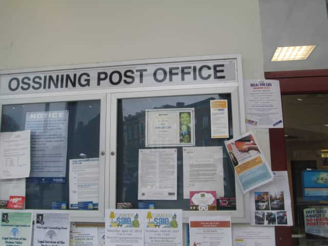 Ossining's post office is open until 7 p.m. April 15.