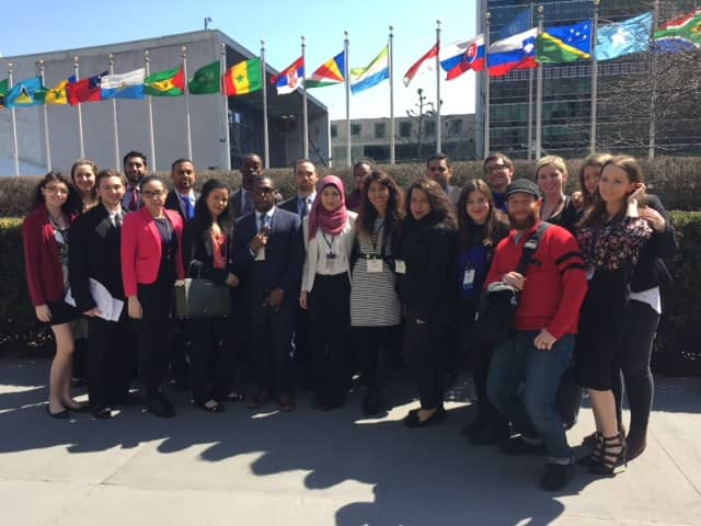 The Pace University Pleasantville Model United Nations team.