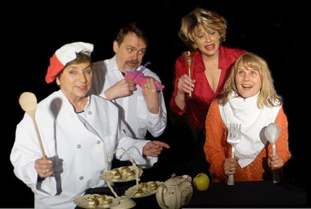 "Members of the cast of ""Dinner with Disney"" (from L-R) Maryann Ferrara Ramos of  Greenwich; Norris Wakefield of Norwalk; Linda Colucci of Stamford; and Rosalind Cormier of Norwalk."