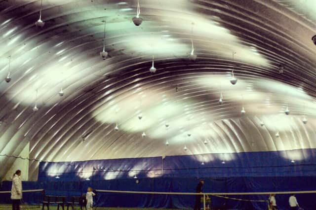 Mount Vernon hopes to construct a tennis bubble similar to this at Memorial Field.