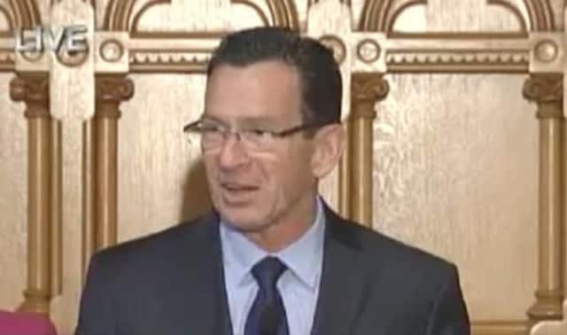 Gov. Dannel Malloy announced the $696,000 in federal funds to assist homeless veterans.