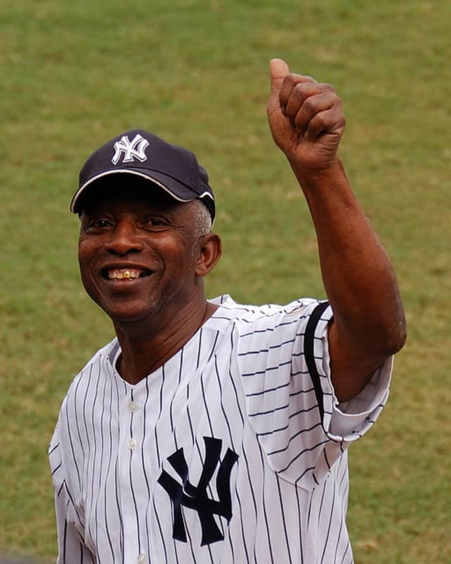 Former New York Yankee Mickey Rivers threw out the first pitch for Scarsdale Little League's opening day ceremony, according to scarsdale10583.com.