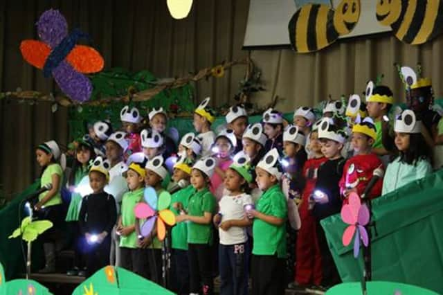 """Fireflies light up the stage during a Woodside performance of """"Bugz."""""""