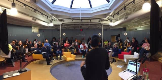 "It was a packed house in New Rochelle at the first ""idea generating meet-up."""
