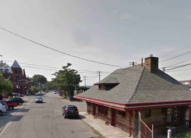 A man was accused of stabbing his girlfriend at the Irvington Train Station.