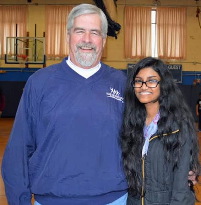"""Brian Skanes, """"Humanitarian of the Year,"""" with Nethmi DeSilva, """"Youth of the Year,"""" who will be honored at the Boys & Girls Club of Northern Westchester's 21st annual Humanitarian Award Dinner at the Hilton Westchester on Saturday, June 6."""