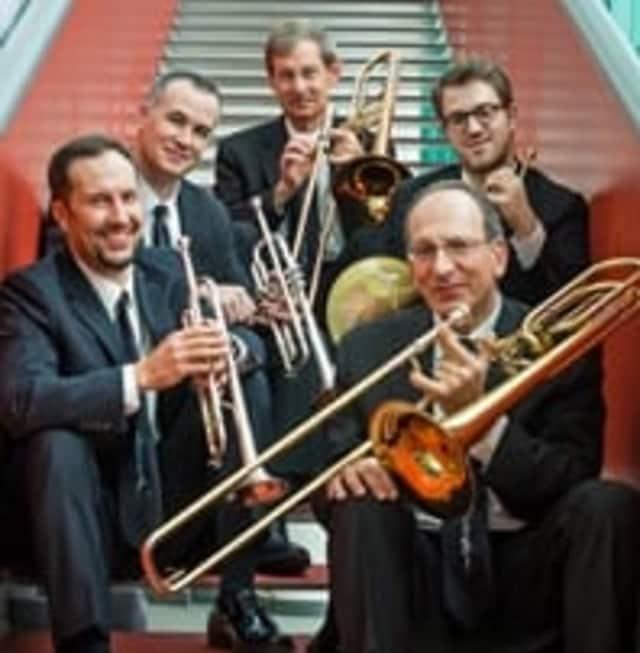 The American Brass Quintet are trumpet, Kevin Cobb and Louis Hanzlik; horn, Eric Reed; trombone, Michael Powell; bass trombone, John Rojak.