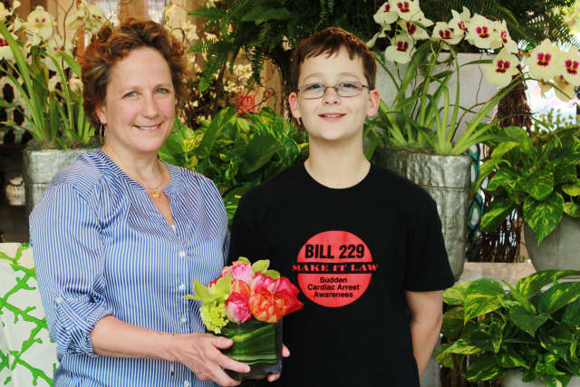 """The winner of the 2014 """"Best Mom"""" contest, Veronica Scribano and her son, Sam."""