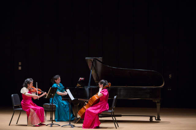 Furuya Sisters in live performance in 2014 at University of Connecticut.