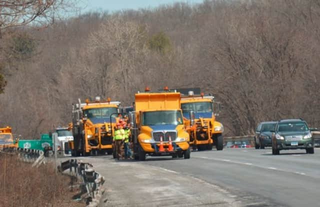 DOT road work on Interstate 684, pictured in March 2015.