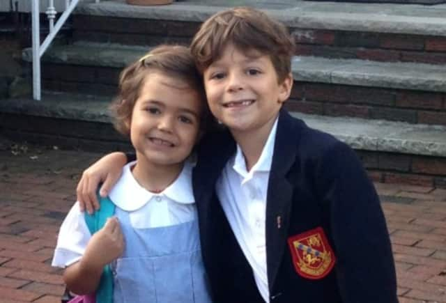 Friends of Karen child Sofia with her brother Luca.