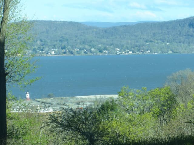 A view of the Hudson River on Tuesday from Tappan Hill Mansion in Tarrytown where the event was held.