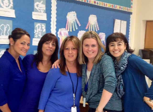 Eastchester teachers and students wore blue in honor of Autisum Awareness Month.