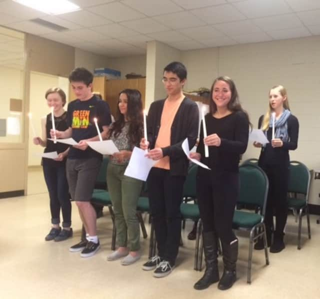 Thirteen Irvington High School students recently were inducted into the school's French Honor Society.