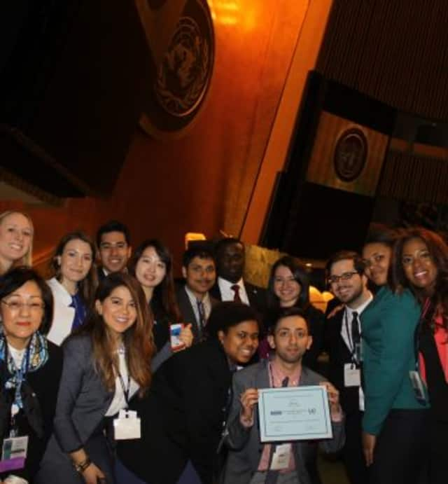 The Mercy College Model United Nations class.