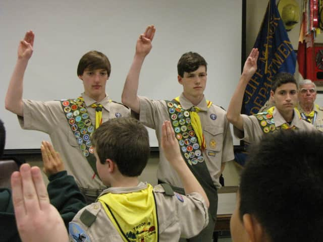 James Hoffman, Nick Servidio and Andrew Snyder of Boy Scout Troop 18 Briarcliff Manor recently were honored as Eagle Scouts.