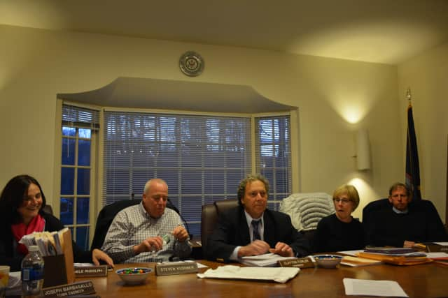Pound Ridge Planning Board members at their April 23 meeting.