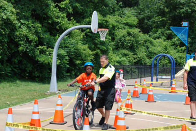 Tuckahoe police at a previous Community Day benefitting local children.