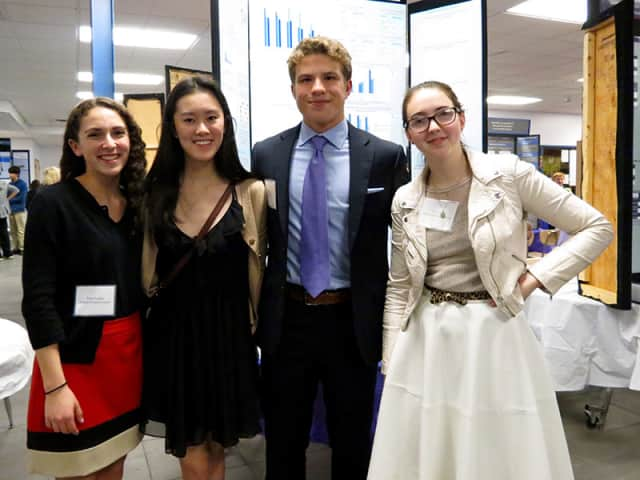 Seniors at John Jay High School showcased science research at a science symposium.
