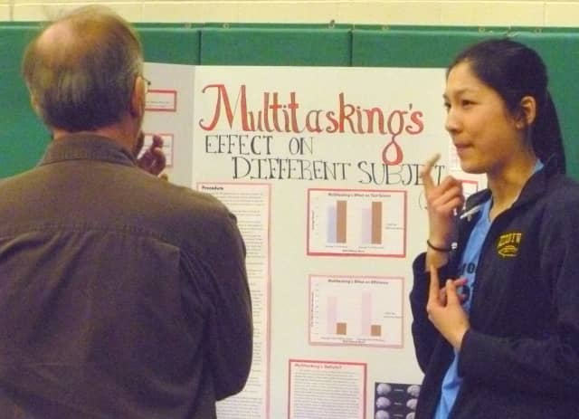 Evaline Xie explains how she proved that multi-tasking hurts performance at a science fair in 2011.
