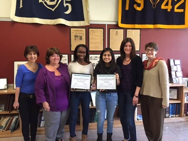 Jane Klemmer, Marybeth Griffin (counselor), Dainty Owusu Fordjour, Nicole Castillo, Johannah Moran (counselor) and Jeannette Gerber.
