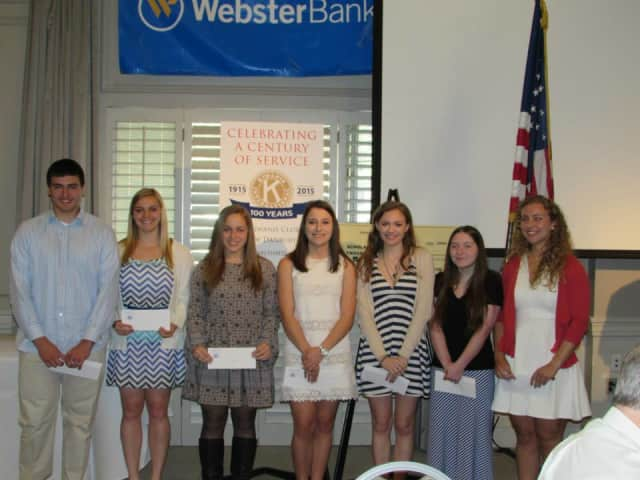 Students were awarded scholarships in recognition of their leadership, academics and service to their communities at the Kiwanis for Kids breakfast May 1.