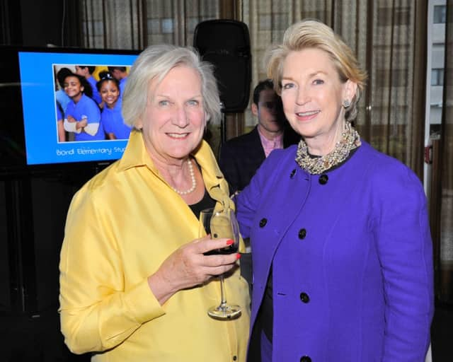 "Sue Taub, left, of Briarcliff Manor with Tess Wachs of Manhattan at Leake & Watts' ""A Taste of Riverpark"" Spring Benefit."