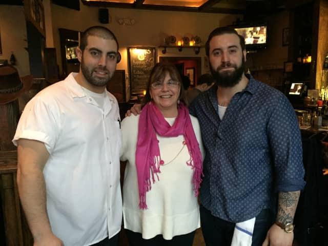 Matt, Cathy and Joe Kay run Cedar Street Grill in Dobbs Ferry.