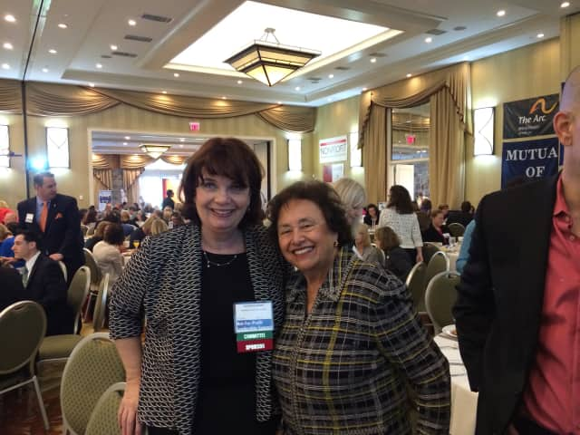 From left: Catherine Marsh, executive director of the Westchester Community Foundation and U.S. Rep Nita Lowey (D-Westchester/Rockland) recently attended the Not-for-Profit Leadership Summit in Tarrytown.