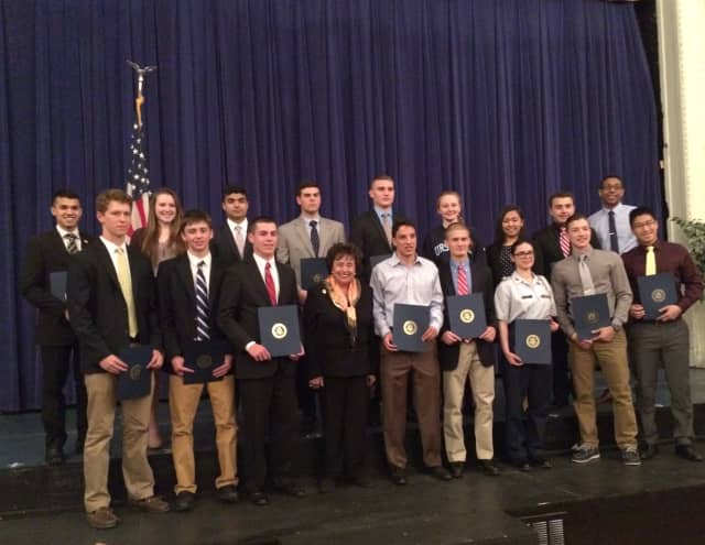 The Westchester County students nominated for U.S. military service academies, along with nominees from Rockland County, were recently honored at U.S. Rep. Nita Lowey's annual recognition ceremony.