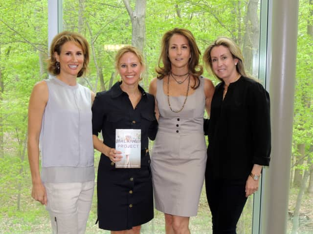 Allison Wohl, Susie Orman Schnall, Staci Friedwald and Karen Sobel, all of Purchase, at the UJA-Federation of New York's Westchester Women's Philanthropy event.