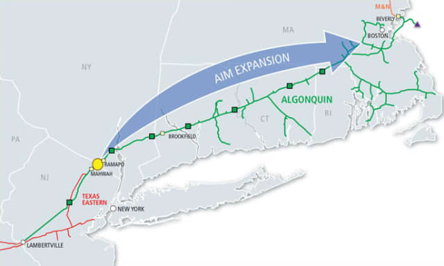 A meeting to discuss the Algonquin Pipeline expansion will be held in Yorktown on Monday.