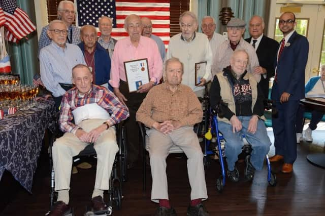 The Bristal at White Plains honored 13 of its residents who are veterans of the Second World War.
