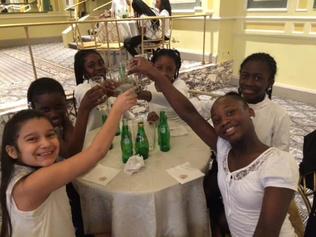"Members of the Edwards Williams Elementary School Chorus performed ""Gold"" at the Pierre Hotel National Mother's Day Council Luncheon in Manhattan on May 7."