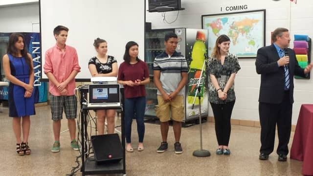 Valhalla High School students honored for their involvement in the  Accelerated College Experience Program.