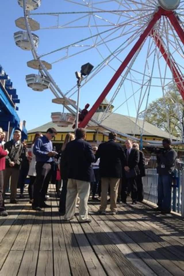 Legislators and representatives from Standard Amusements toured Playland on May 7.