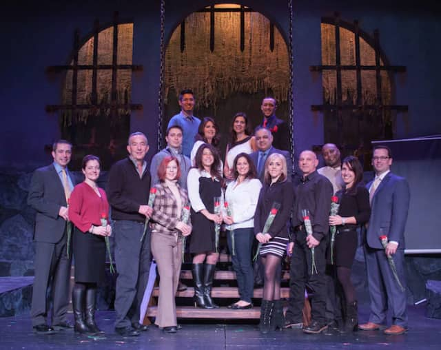 This year's team of professional and volunteer dancers for Curtain Call's Dancing With The Stars, which will be May 16 at The Palace Theatre in Stamford.