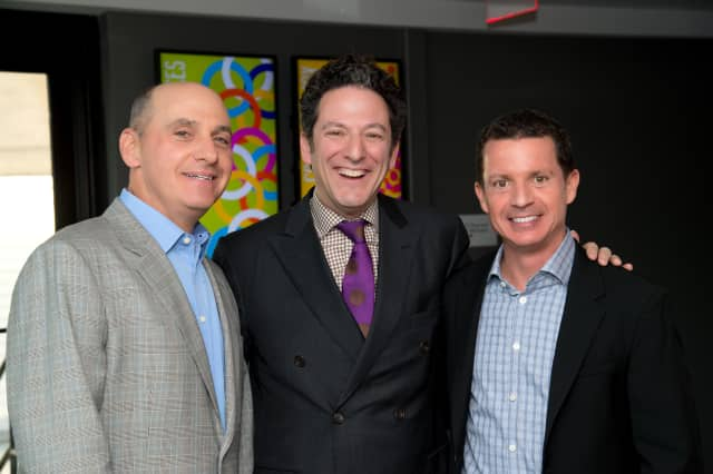 "From left, Adam R. Rose, John Pizzarelli and Peter R. McQuillan at the ""Swinging with Sinatra"" event at the Jacob Burns Film Center on May 6 in Pleasantville."