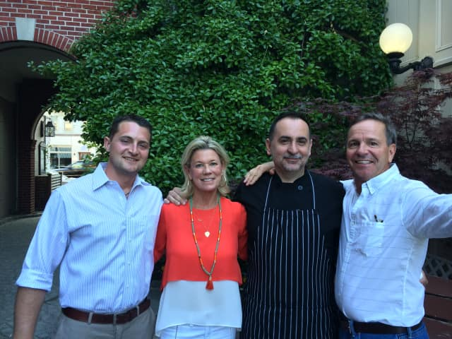 From left, manager Matt Polidoro, co-owner Lynn Gagliardi, chef Piergiorgio Nanni and co-owner Mike Gagliardi of Darien's The Goose American Bistro & Bar recently celebrated five years in business.
